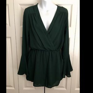 Gianni Bini dark green romper